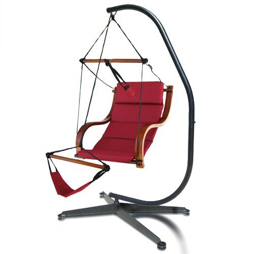Hammock Chair C Stand Red Covers Wedding Amazon Com New Steel For Air Chairs Hanging Patio Lawn Garden