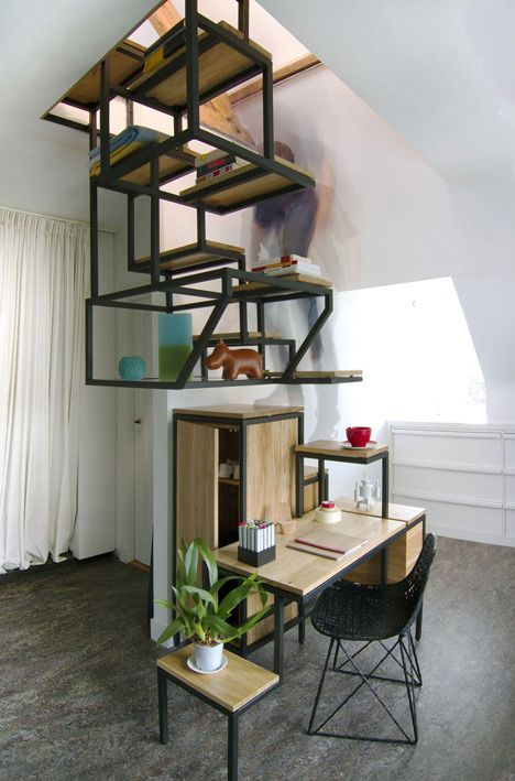 Best Innovative Suspended Stairs Double As All In One Workspace 400 x 300