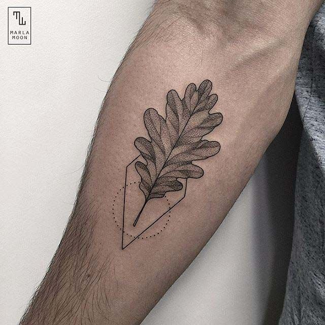 tattoo leaf oak tattoo etching dots lines pinterest aspen leaf leaves and aspen. Black Bedroom Furniture Sets. Home Design Ideas