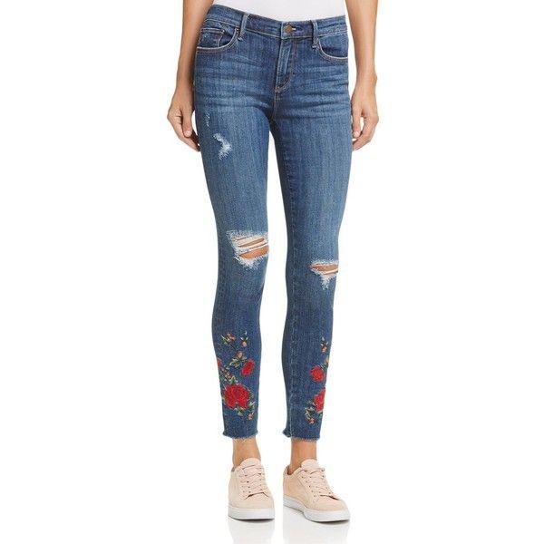 fccd37382f Aqua Embroidered Distressed Skinny Jeans in Indigo - 100% Exclusive ...