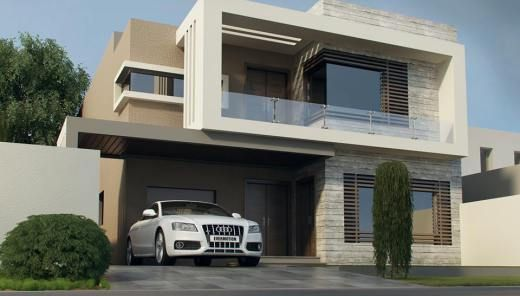 Front Elevation Of House In Karachi : Marla house at bahria town lahore homes
