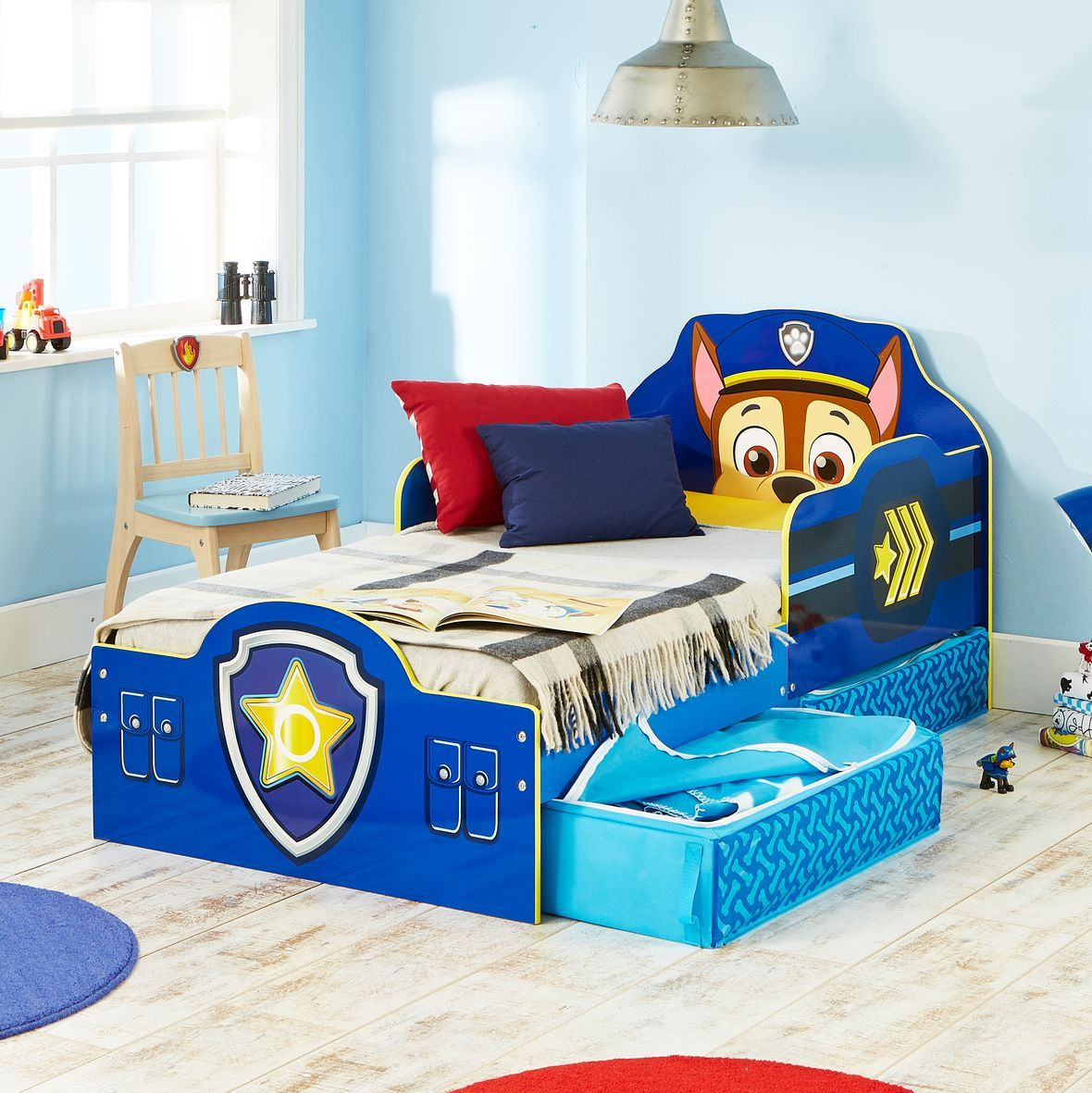 Cama infantil de madera con patrulla canina ideal para - Cama para ninos pequenos ...