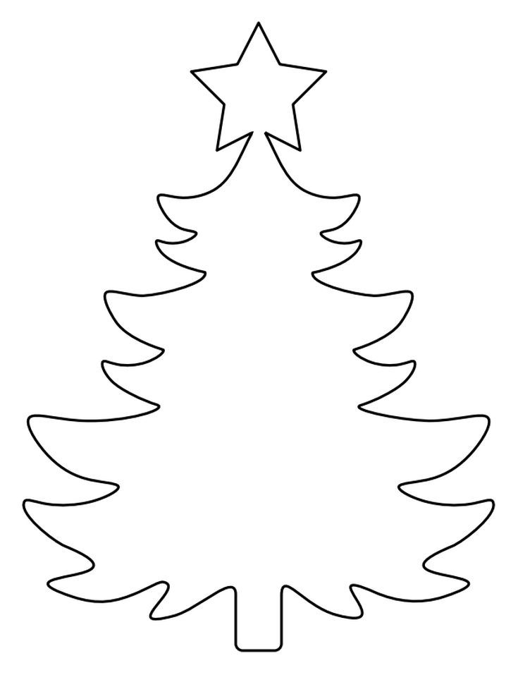 37 Christmas Tree Templates In All Shapes And Sizes Printable Template From Pattern Universe