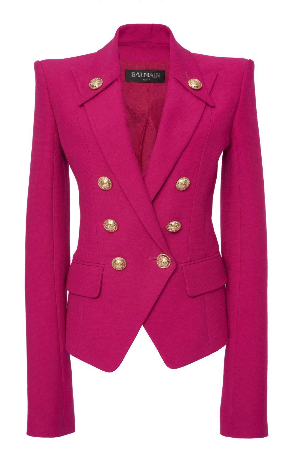 366c759d2a Fitted Peak Lapel Cotton Jacket by Balmain PF19