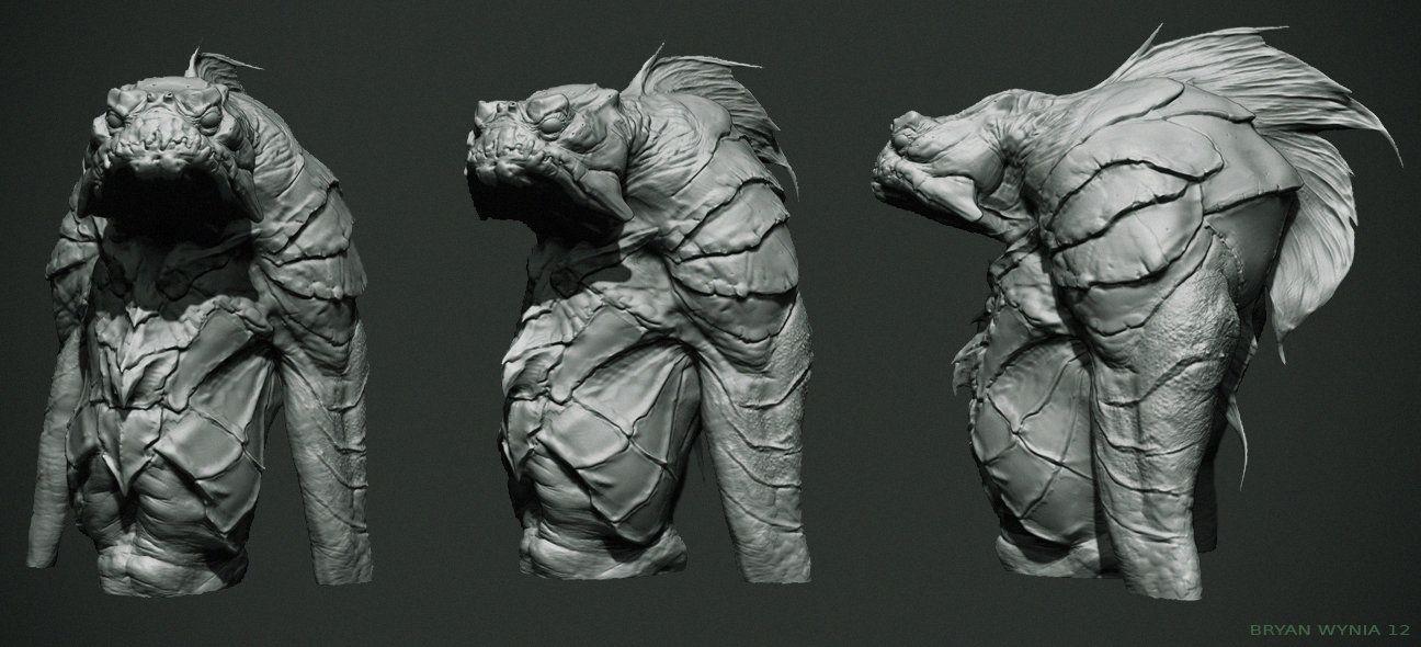 ArtStation - Lagoon Creature, Bryan Wynia