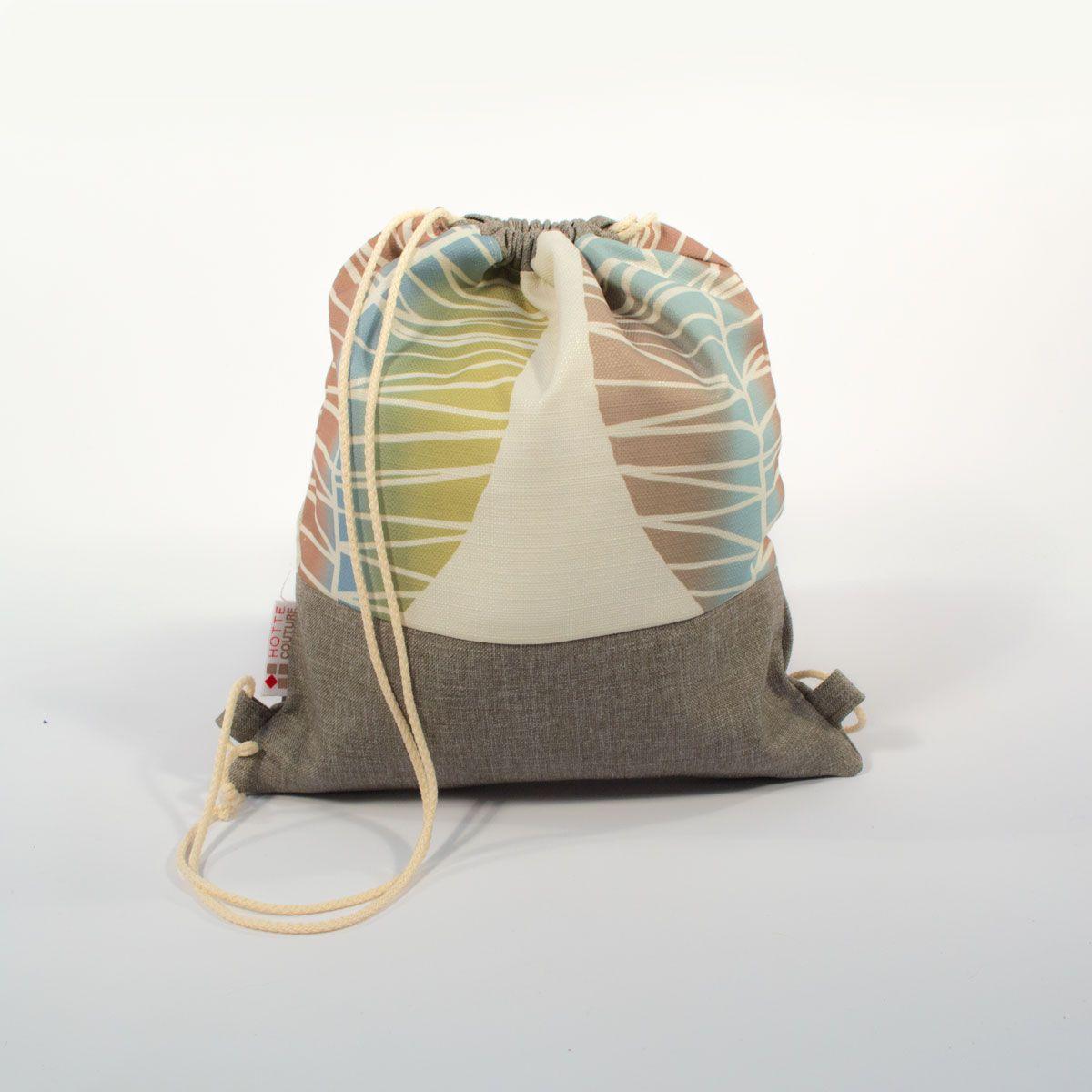 baluchon avec int rieur imperm able collection nervures vert joli baluchon sac dos pour les. Black Bedroom Furniture Sets. Home Design Ideas