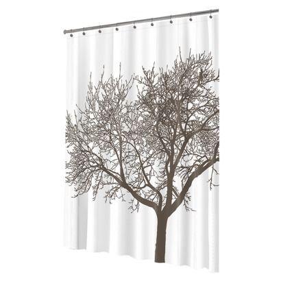 Tree Eva Shower Curtain Mocha Splash Home Tree Shower Curtains