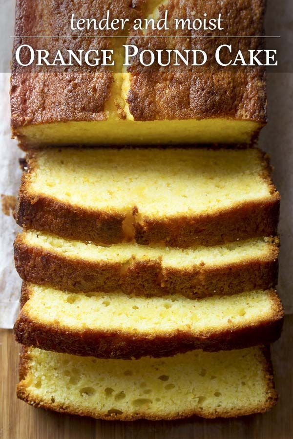 Moist and Tender Orange Pound Cake Using both orange zest and orange juice helps make my moist and tender orange pound cake one of the best loaf cake recipes you can bake. Rich in flavor and light in texture! |