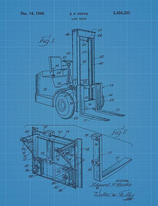 Forklift blueprint patent patents for sale pinterest dan forklift blueprint patent malvernweather Choice Image