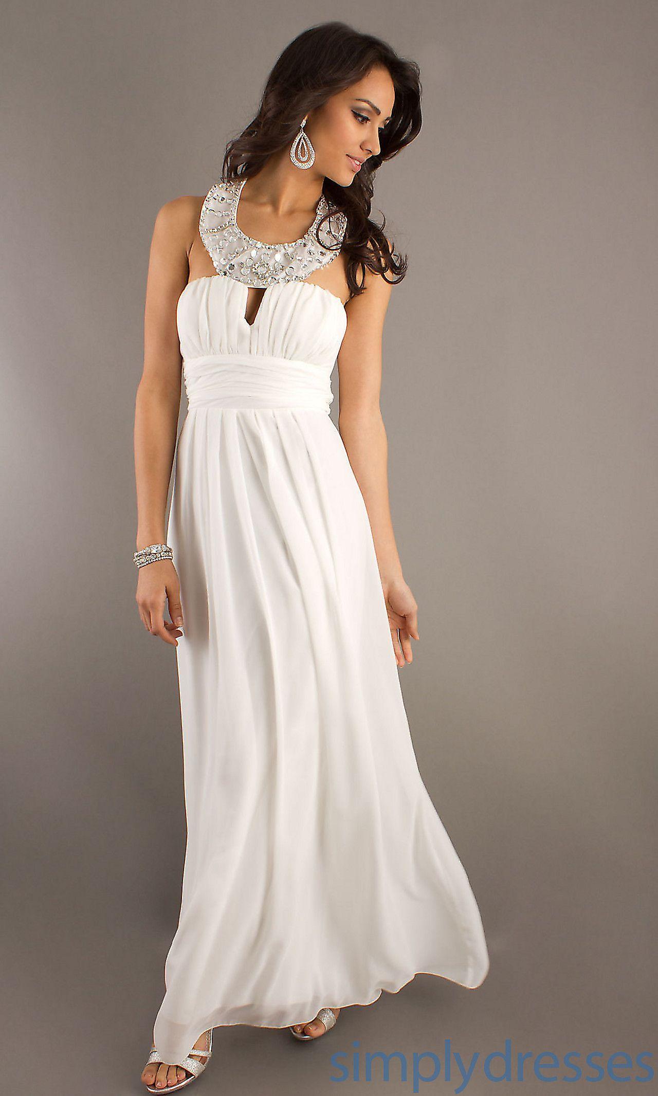 150.. Floor Length White Dress BD-0671556 | Princess at Heart ...