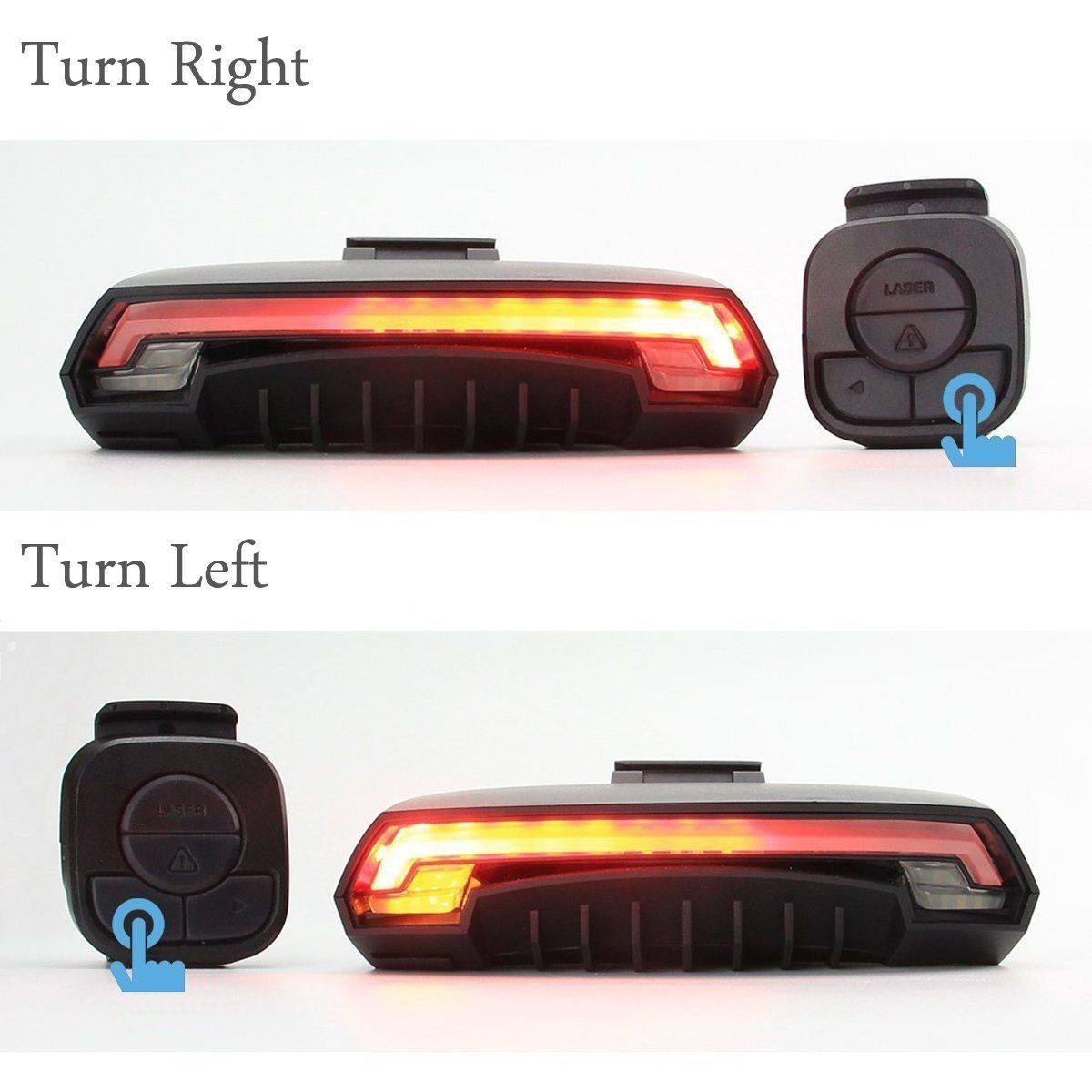340f615c6bf ONEU Bike Tail Light Waterproof Safety Laser Beams Lamp Warning Flashing Turn  Signals Bicycle LED Rear Light Wireless Remote Control for Cycling