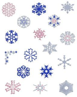 Snowflakes 3 Machine Embroidery Designs Sets Brother