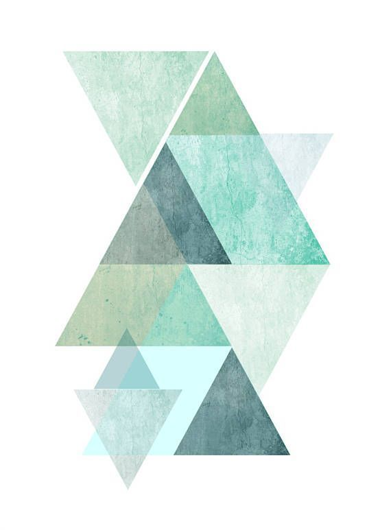 Blue Hues Scandi Geometric Print