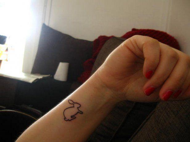 6b5a7511b6b75 little bunny tattoo on wrist. cute tattoo | ⊂◉‿◉つ Tattoos for ...