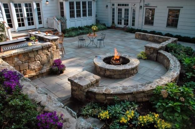 30 Stone Wall Pictures and Design Ideas to Beautify Yard ... on Patio Stone Wall Ideas id=28701