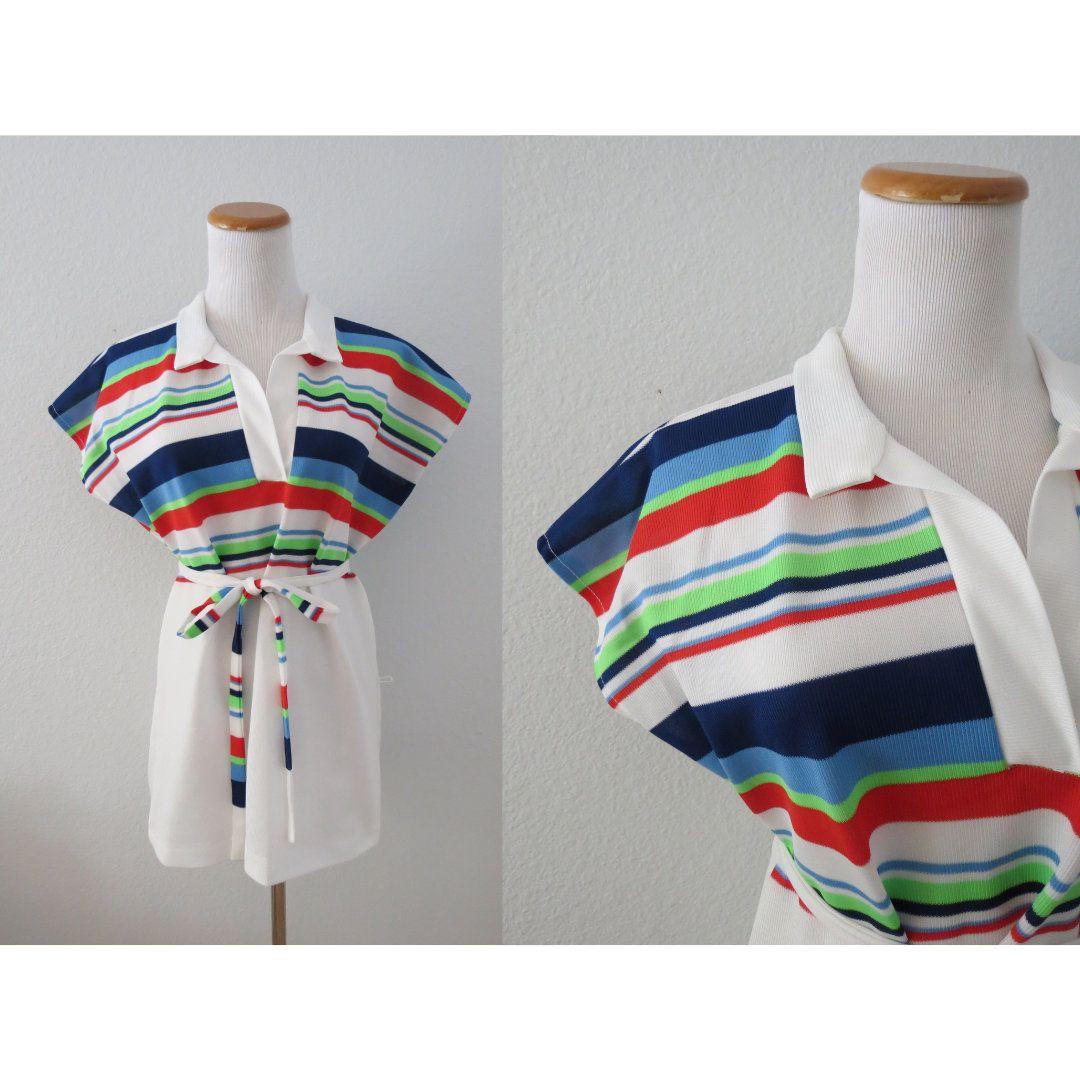 XS vintage rainbow tunic top