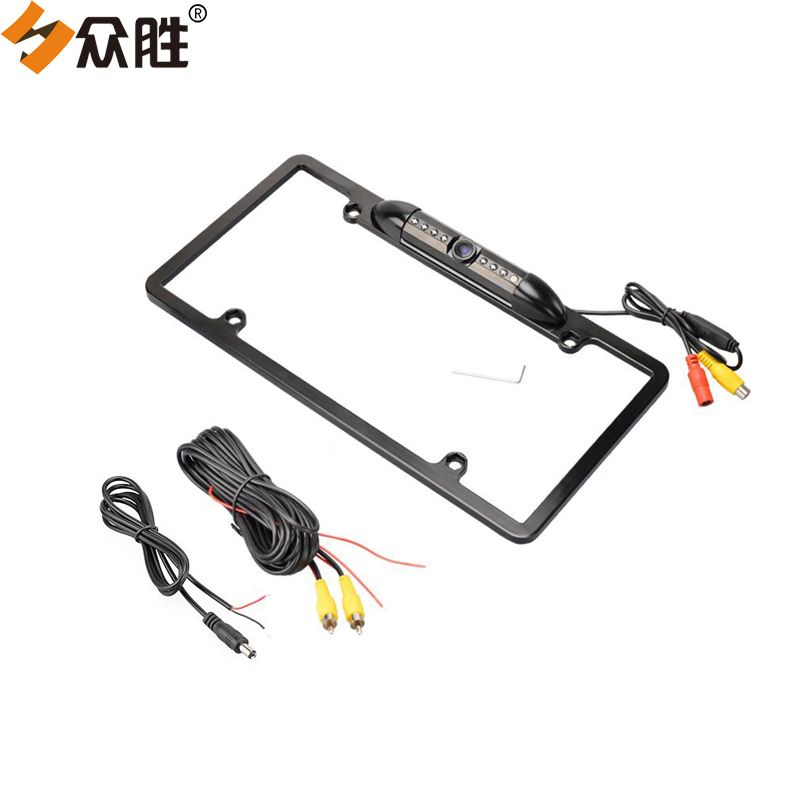 USA Car License Plate Frame with Reverse Parking Camera Car Rear ...
