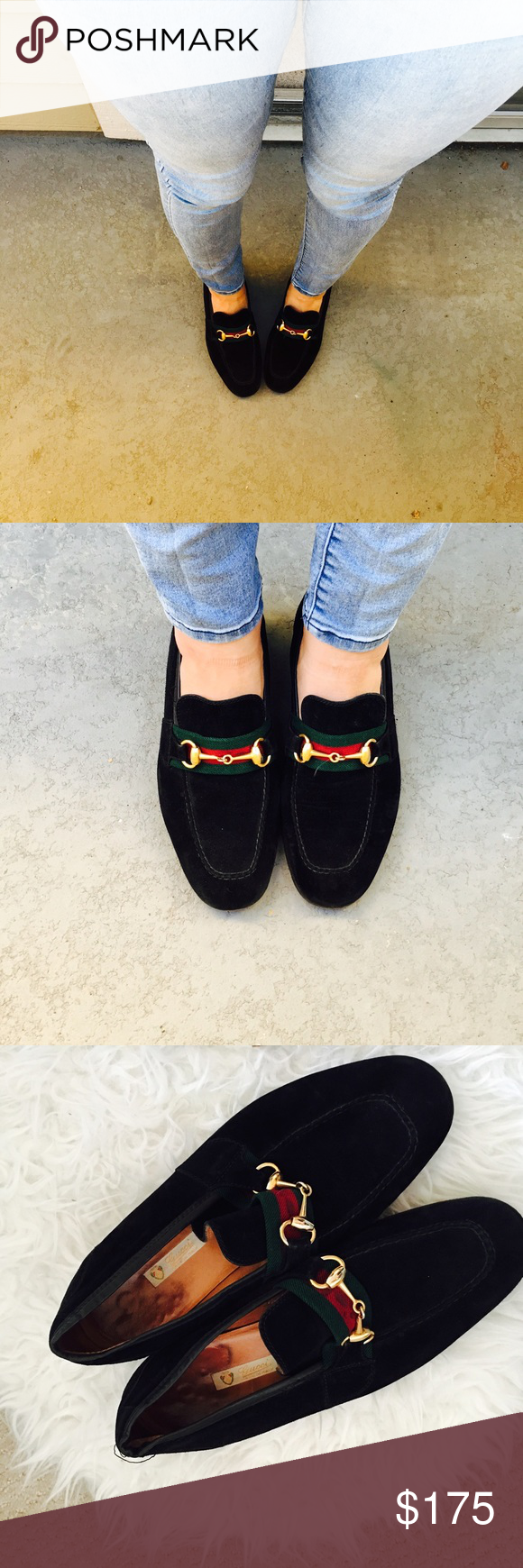 f274acacebf Vintage Gucci Horsebit Loafers Black suede loafers with original horesbit  hardware . Size 41 mens will fit a women s 9.5 10. In excellent condition .