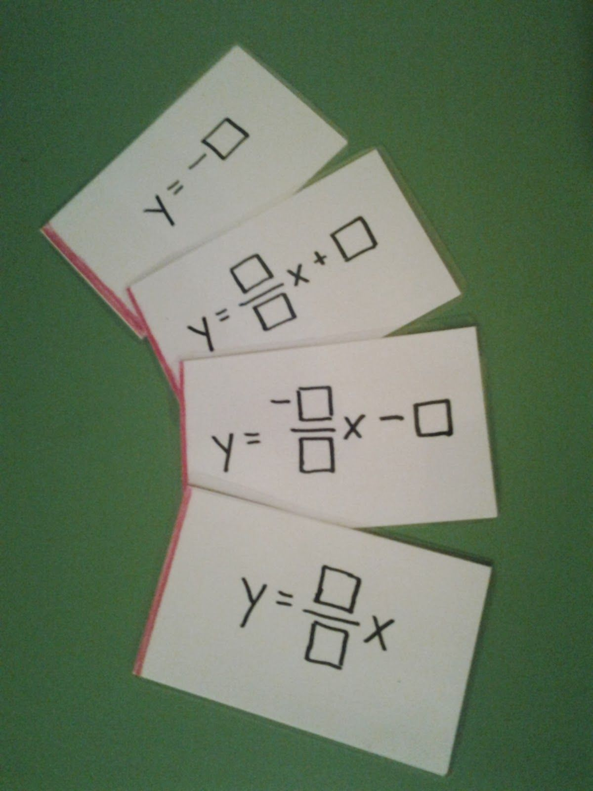Type A Mathland Practice Graphing Linear Equations Using