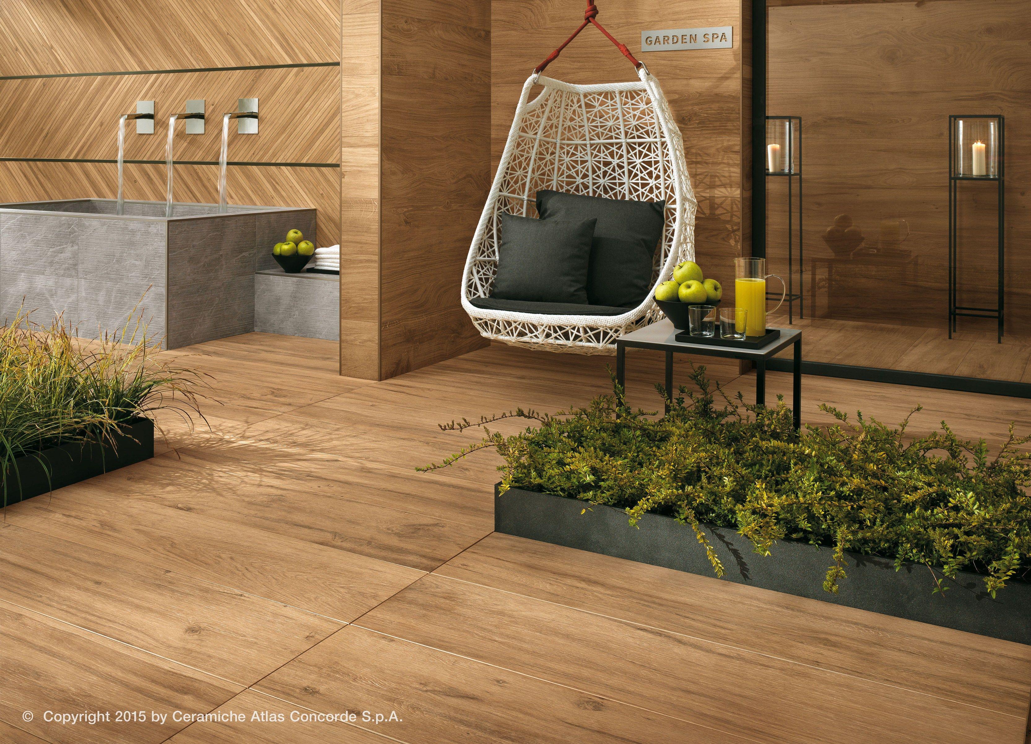 Pavimento rivestimento in gres porcellanato effetto legno etic pro