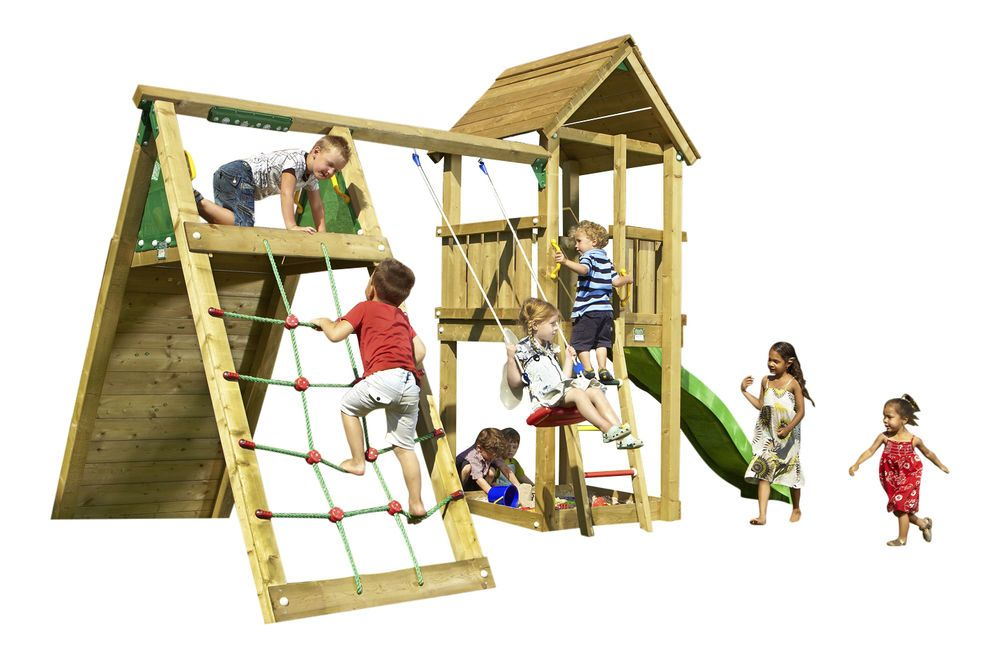 jungle gym spielturm set jans club mit kletterwand schaukel rutsche holz spielt rme pinterest. Black Bedroom Furniture Sets. Home Design Ideas