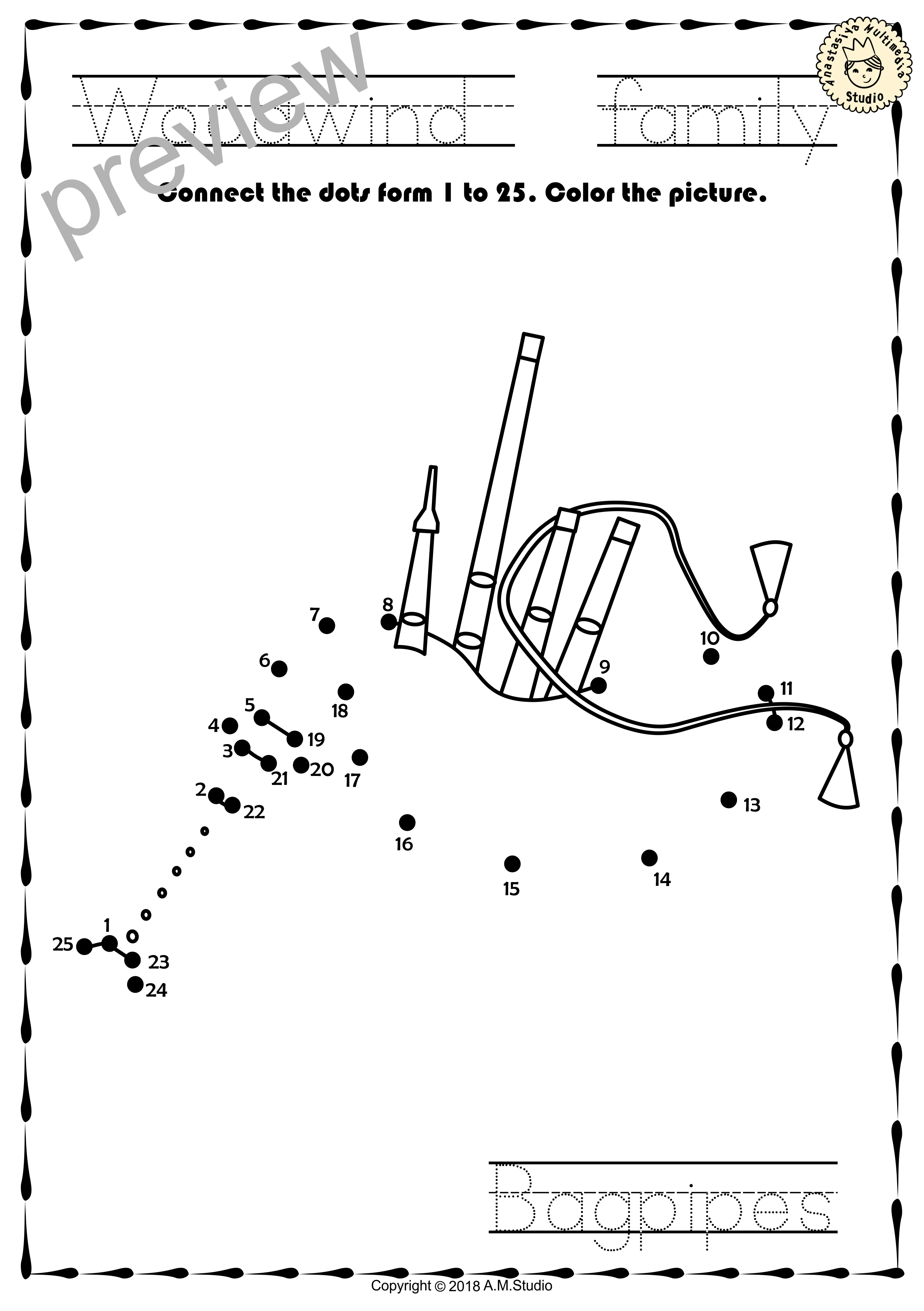Worksheets Instrument Worksheets woodwind instruments dot to worksheets this file in pdf form contains 15 wo