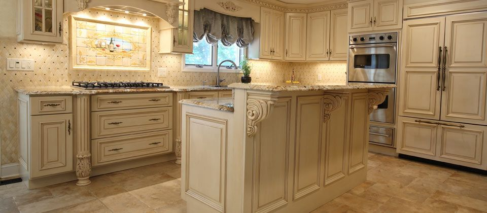Fuda Tile Showcase Picture   French Pattern Floor Gold And Silver Granite  With Double Ogee