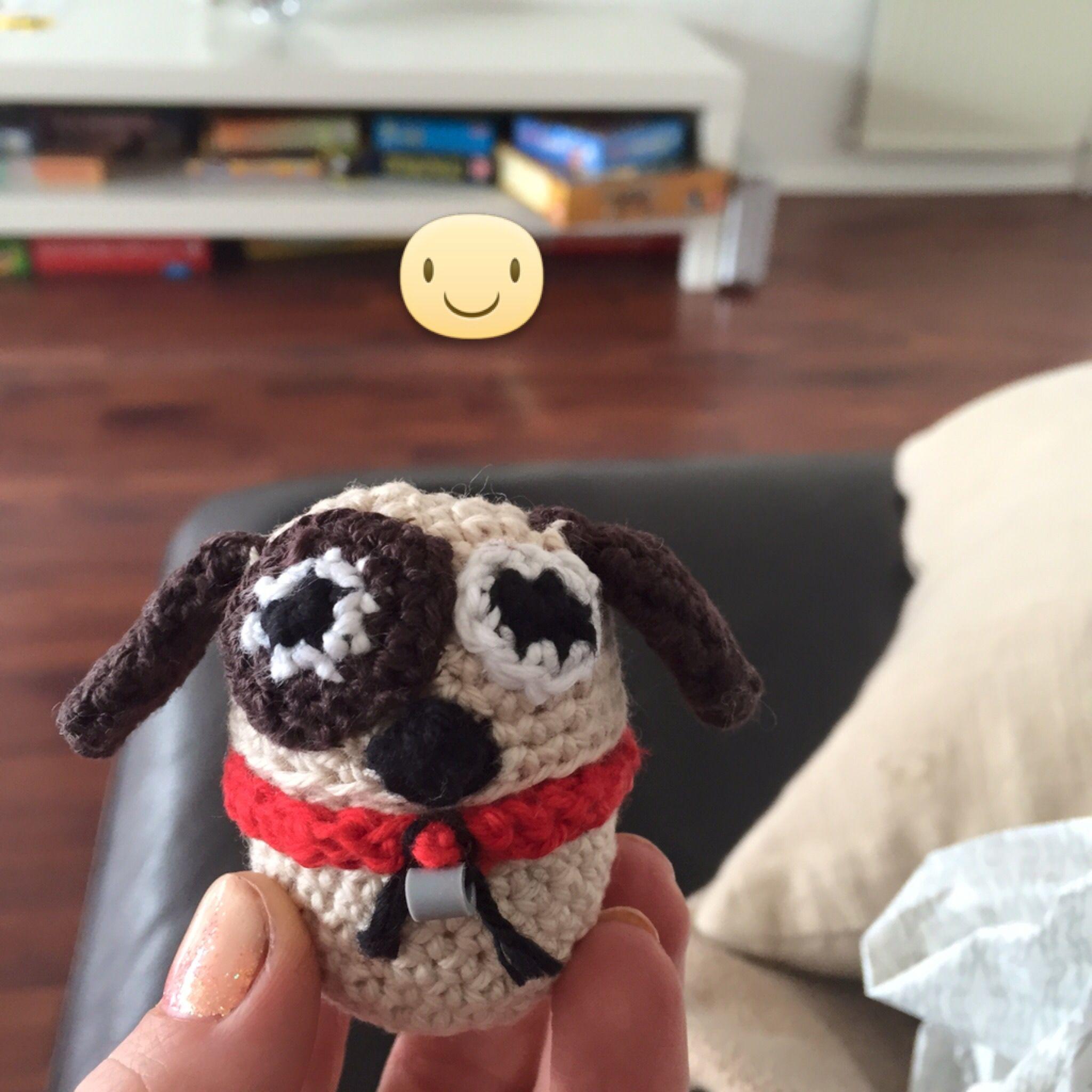 Kinder æg hækling :-) En lille hund! Kinder egg crochet - dog