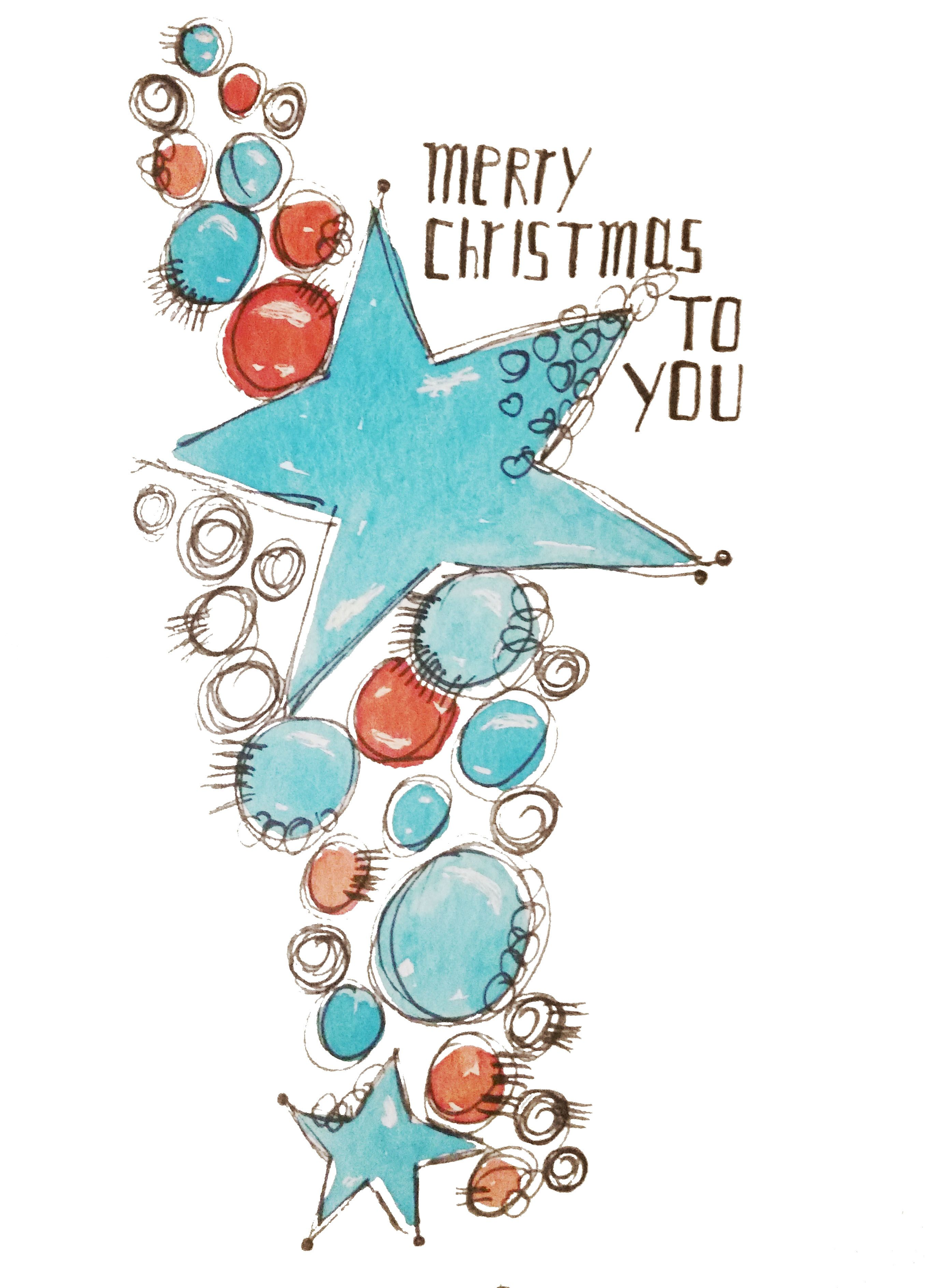Gemalte Weihnachtskarten.Geschenkanhänger Weihnachten By Sabine Brengel Malwerkstatt Mit Herz