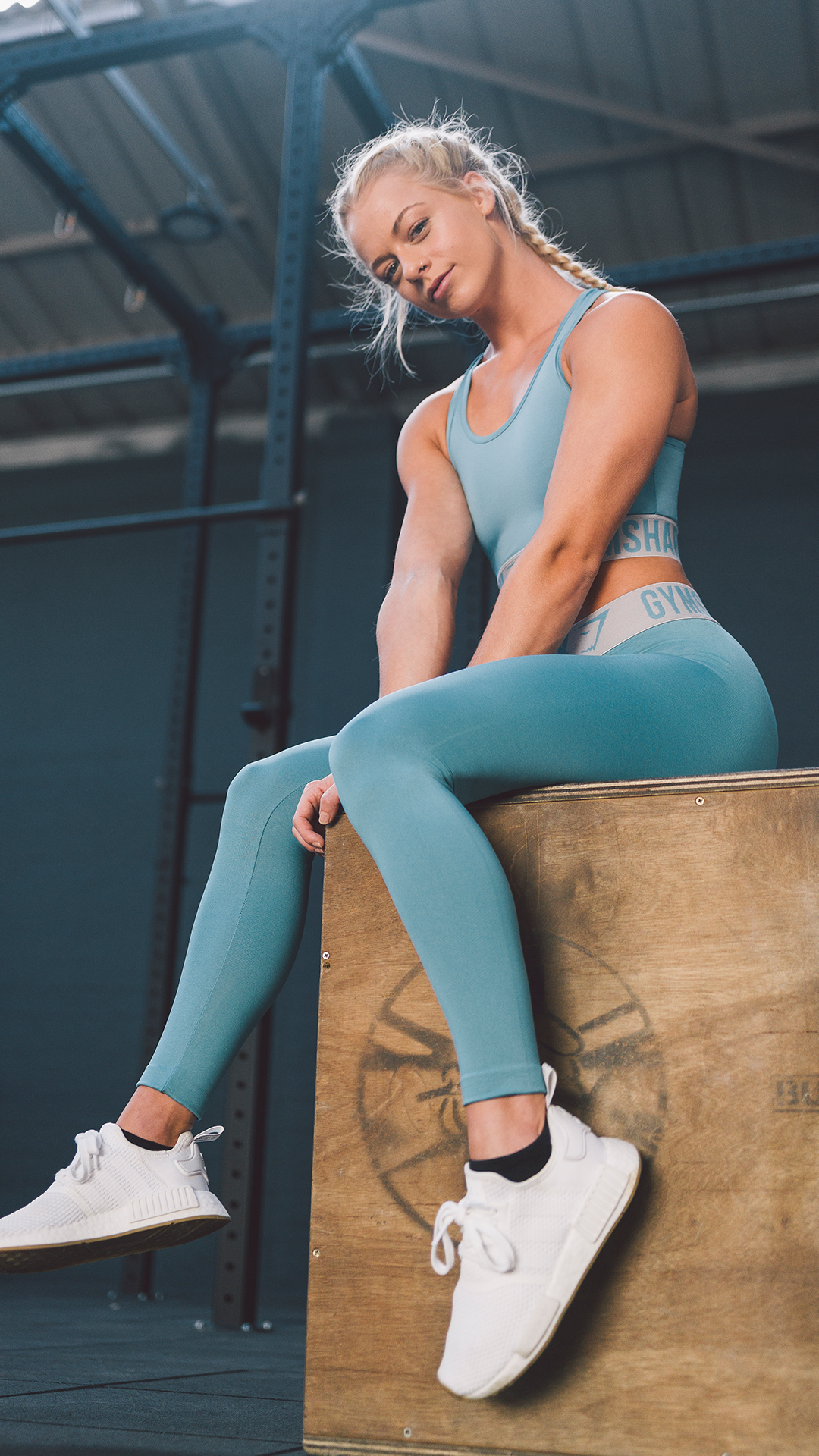 8d4ef46c21dde9 Wearing the Gymshark Fit collection for her power workout in the Gym. # Gymshark #Gym #Sweat #Train #Perform #Seamless #Exercise #Strength #Strong  #Power ...
