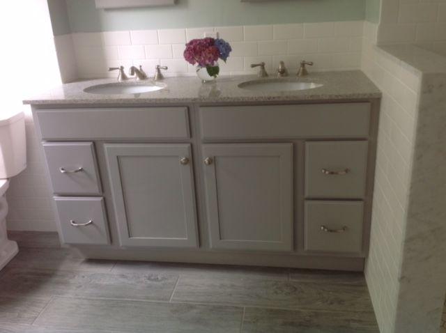 Kraftmaid Harper Bathroom Double Vanity In Pebble Grey Double