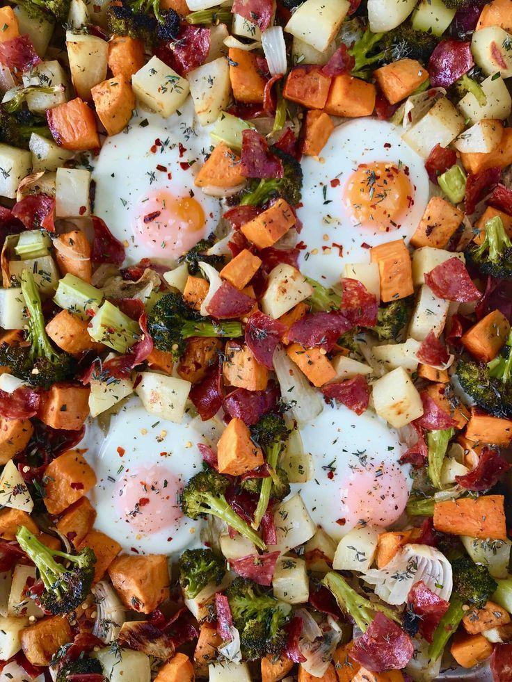 Sheet Pan Breakfast Hash with Salami Recipe Paleo
