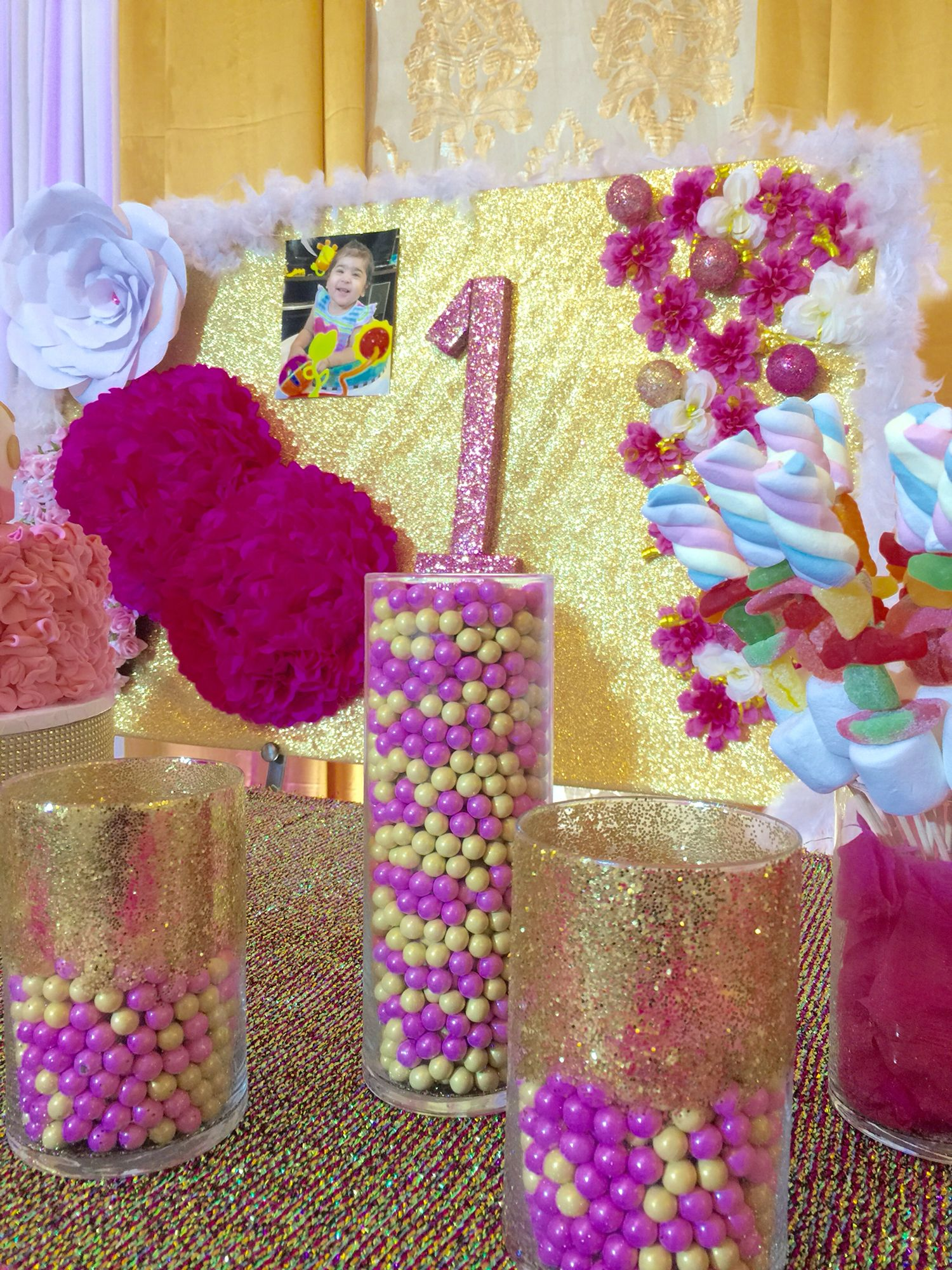 Pink and gold theme birthday party! Gold theme birthday