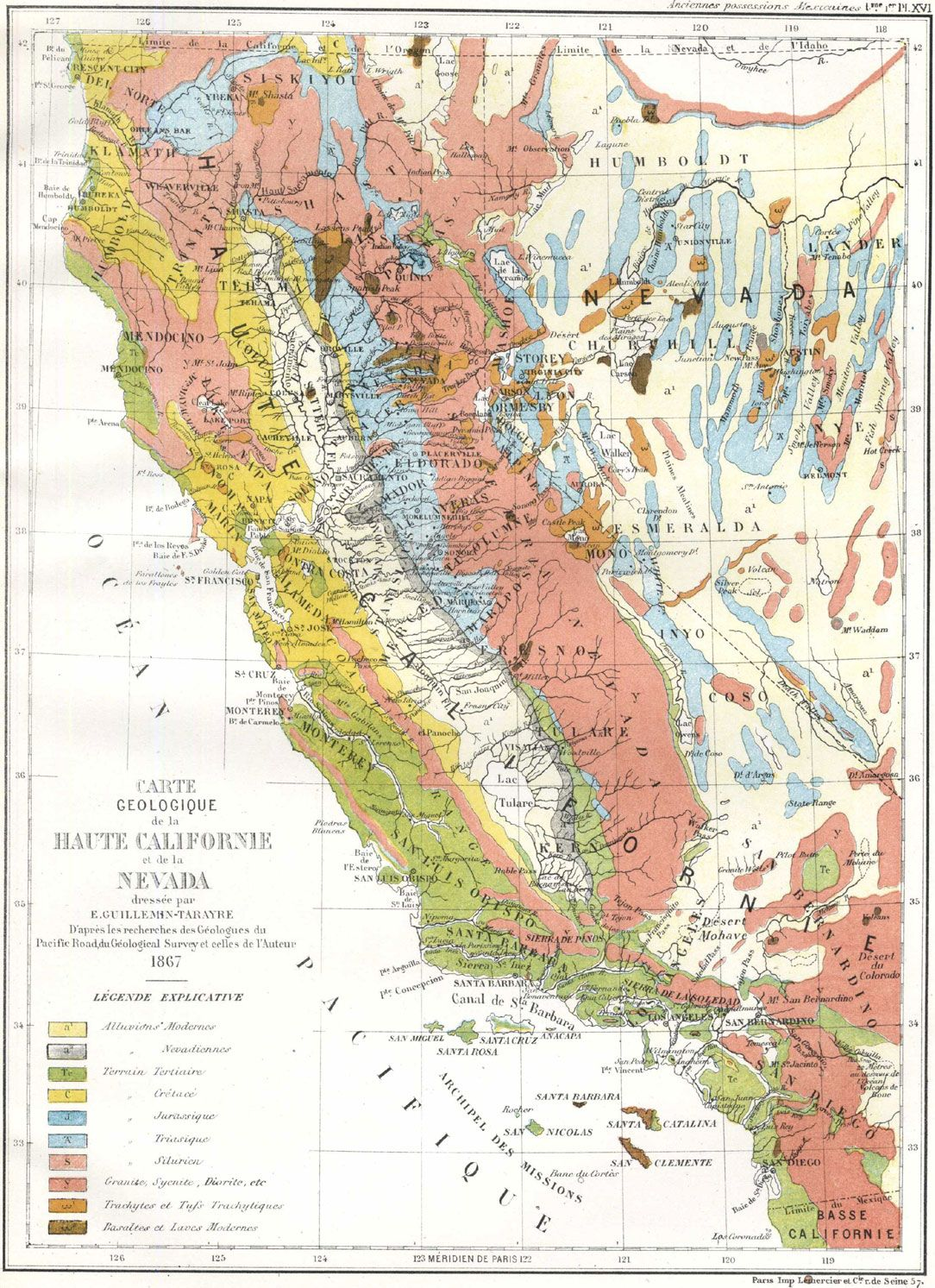 Landmarks In The Publication Of Early Geologic Maps Of The