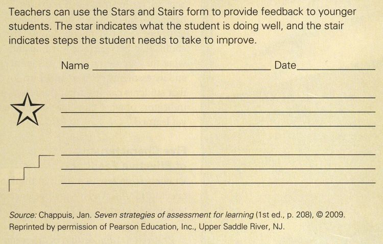 Image Result For Stars And Steps Feedback Form  Feedback
