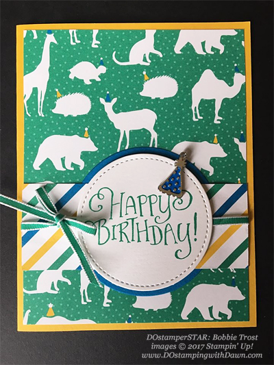 Stampin' Up! Party Animal Create & Play Kit for DOstamperSTARS shared by Dawn Olchefske #dostamping (Bobbie Trost)