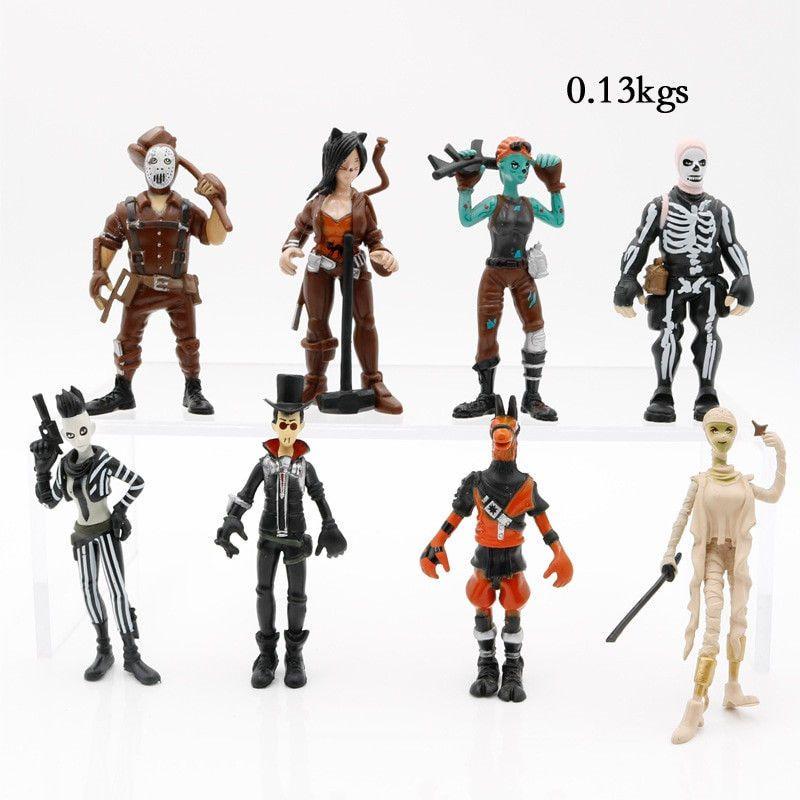 Fortnite Season 5 Pvc Action Figures Set Of 8 Fortnite Battleroyale Free Ship Ninja Action Figures Cartoon Toys Fortnite