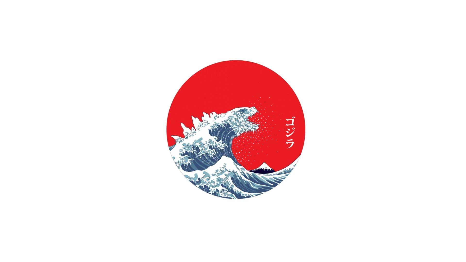 General 1920x1080 Japan The Great Wave Off Kanagawa Waves Minimalism