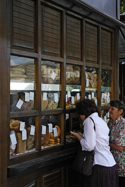 Buying bread...Lviv, Ukraine