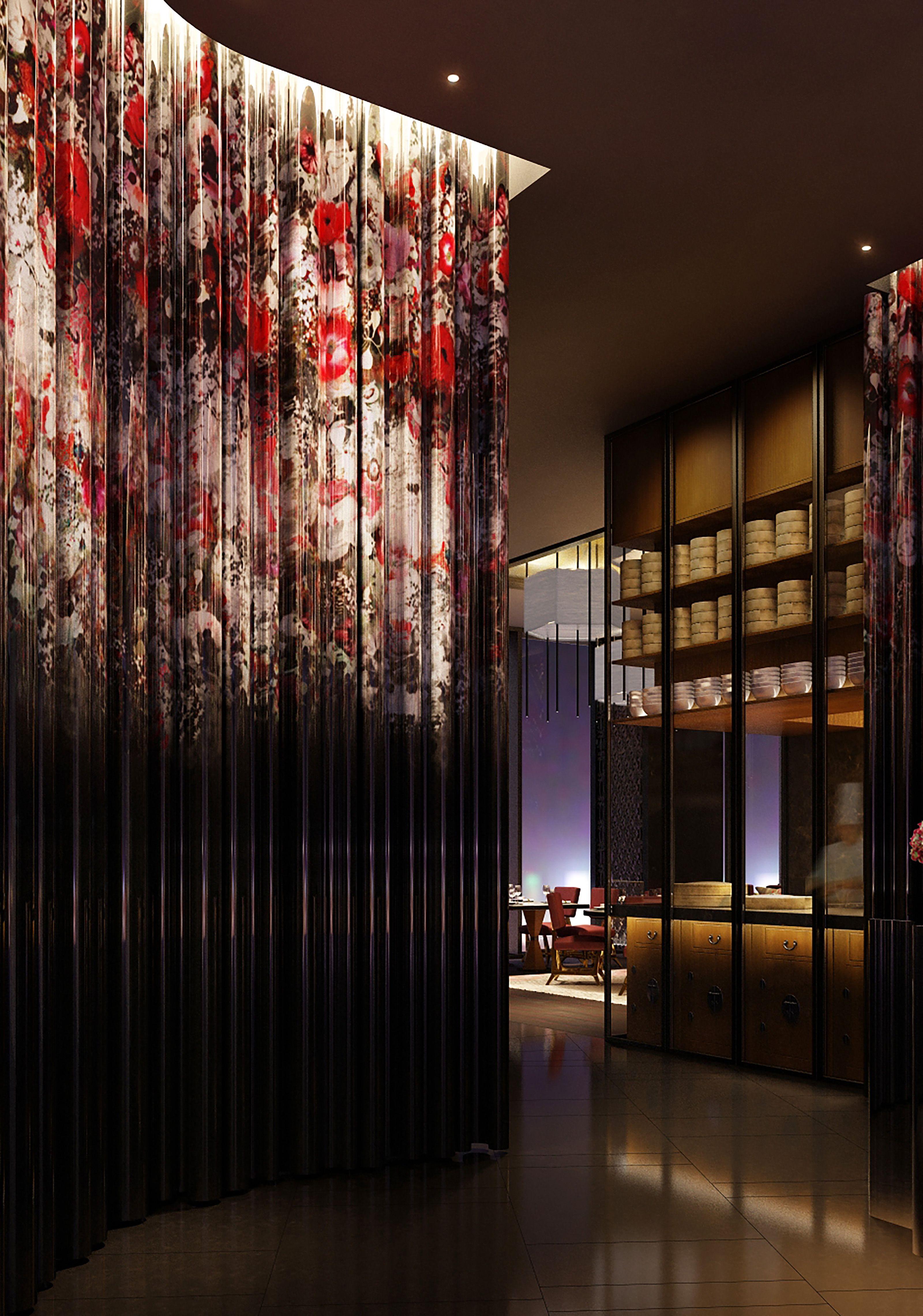 W Suzhou Hotel Feature Wall Bar Design Restaurant Hotel Inspiration