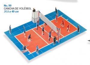 Maqueta Fábrica Maquetasconst Cancha De Voleibol Maqueta De