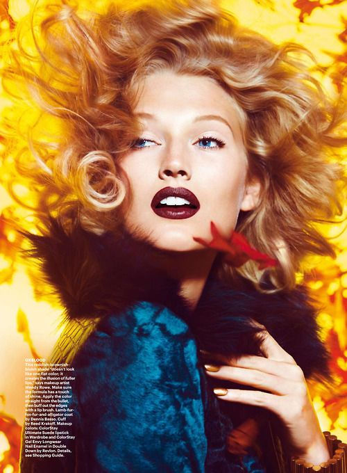 Toni Garrn by Camilla Akrans for Allure November 2014