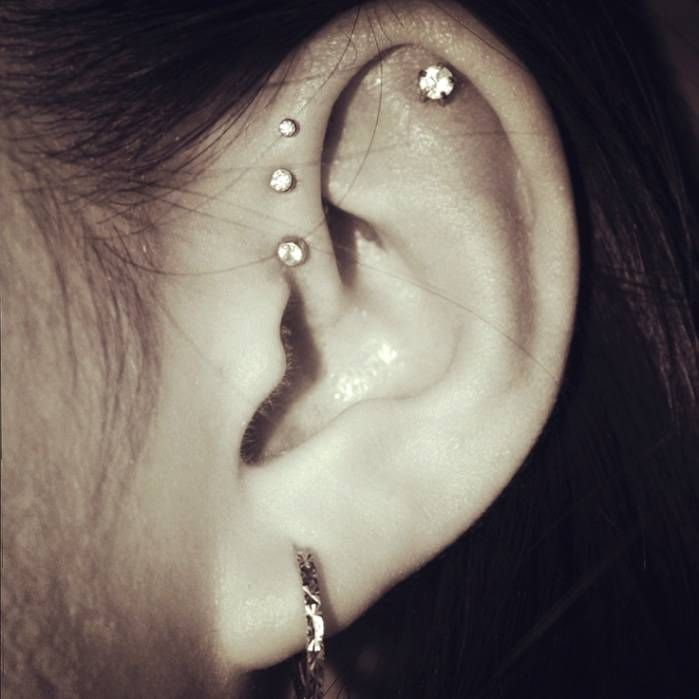Forward Triple Helix Piercing Jewelry | tattoos and ...
