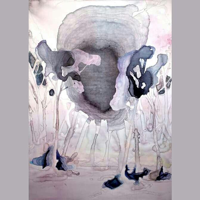 Peneplanarizzazione - ecoline and ink on canvas - cm 70 x 50