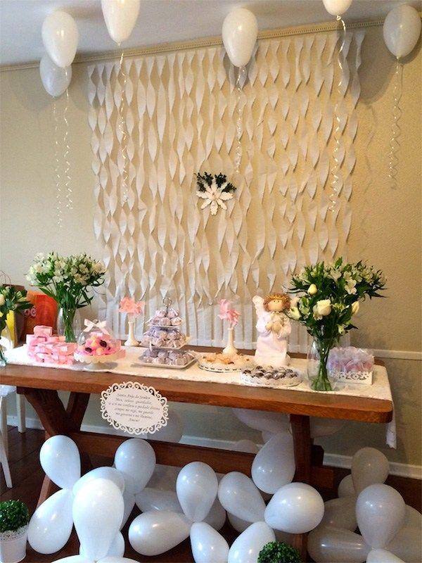 Cortinas de papel crepe bautizo ideas pinterest - Hacer cortinas infantiles ...