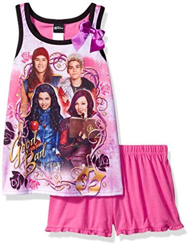 NWT Girl/'s Disney Descendants Pajamas PJ Set 6 8 10 Evie Uma Mal