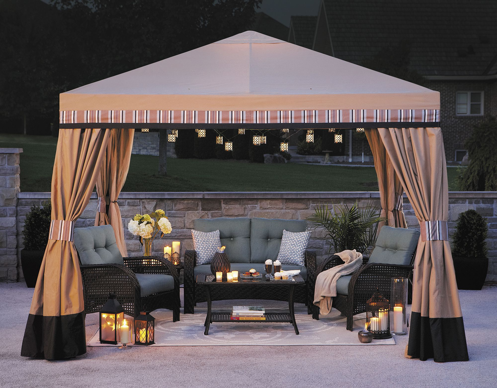outdoor athena walmart gazebo pin patio canopy winds replacement garden