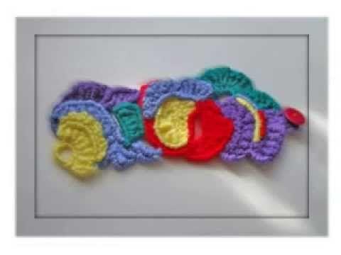 """TRICO y CROCHET-madona-mía: Como hacer una """"pulsera arco-iris """" en crochet"""