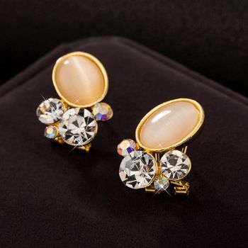 Elegant Korea Style New 2015 Cat EyeStud Earring
