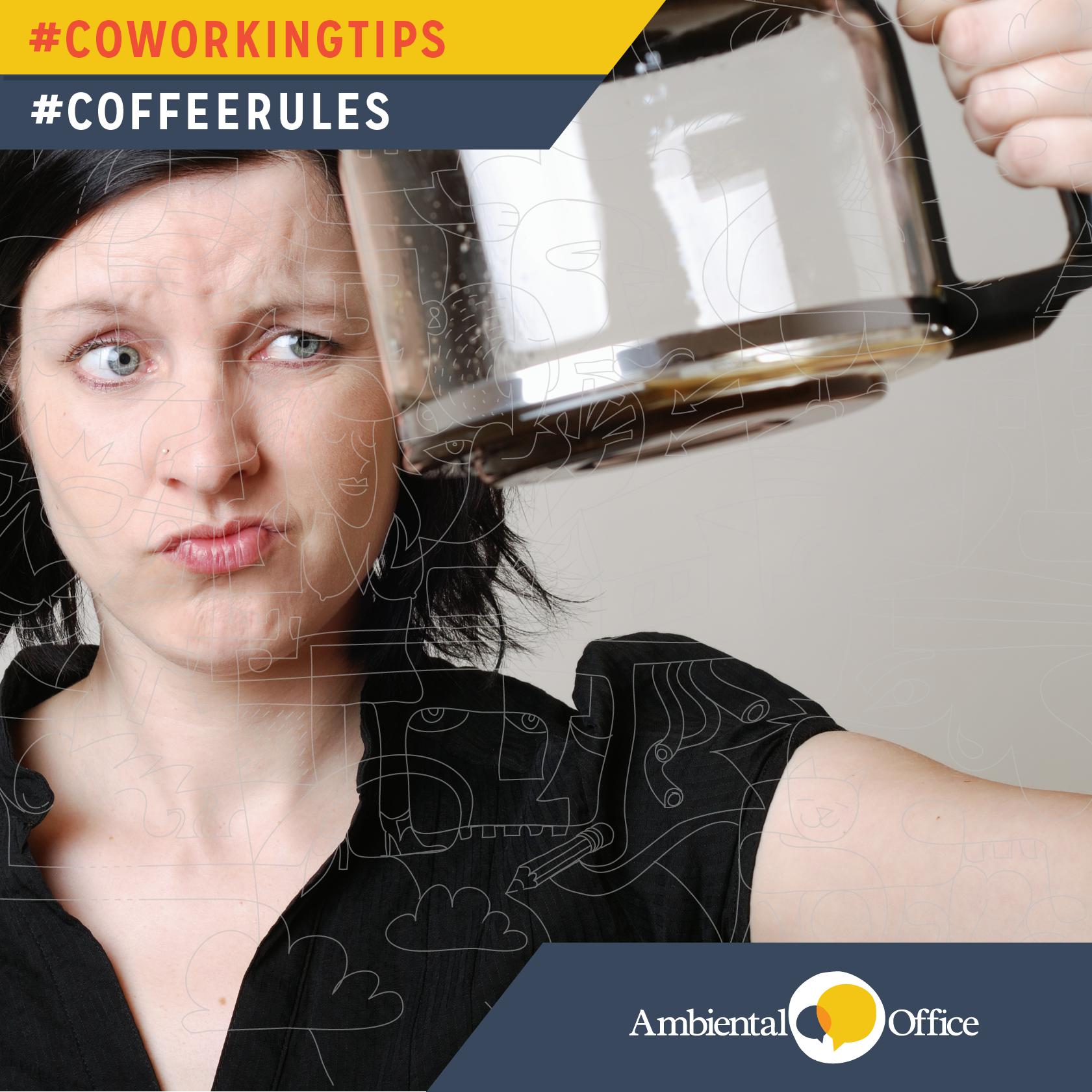 O café acabou na sua vez? Então você foi sorteado a fazer o próximo :)